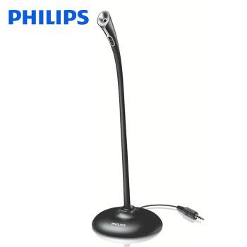 フィリップス(PHILIP)SHM 100デスクトップパソコンマイクゲーム生放送キャスター、エレクトロニックマイクブラックSHM 100ブラック