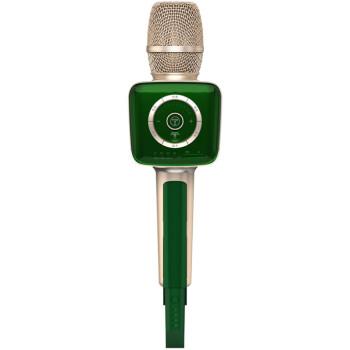 途ニュースV 1スマホーが超能音卡麦全能で合唱車載FMカラオケテレビ無線接続オーディオマイク一体マイクエメラルドグリーン