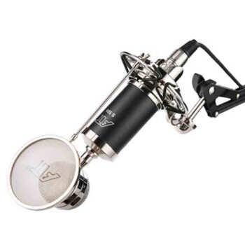 iSK S 500小型哺乳瓶コンデンサーマイク録音専用キャスターが叫ぶライブ設備サウンドカードセットネットK歌マイク携帯デスクトップパソコン通用ブラック
