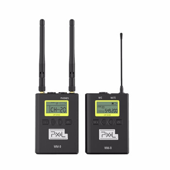品色(PIXEL)WM 9小型蜜蜂ワイヤレスタ、ソニの一目レフ携帯電話の録音をしています。