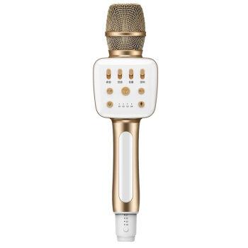 ニューマン(Newmine)MC 28携帯電話テレビ会議車載マイク無線Bluetoothマイク手のひらにKTVキャスターの声カードマイクスピーカーオーディオ一体K歌宝シャンパンゴールド